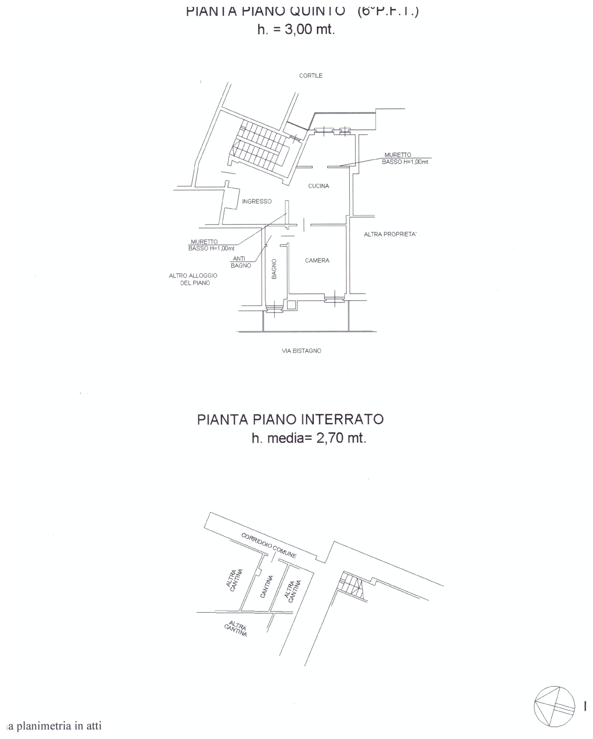 planimetria piano quinto